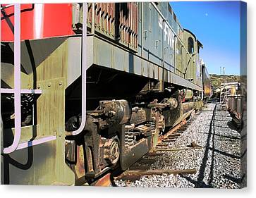 Canvas Print featuring the photograph Rail Truck by Michael Gordon