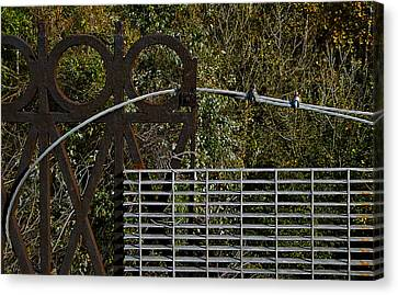 Railing Canvas Print by Murray Bloom
