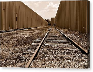 Railroad Canvas Print by Andres LaBrada