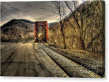 Canvas Print featuring the photograph Railroad Bridge by Brenda Bostic