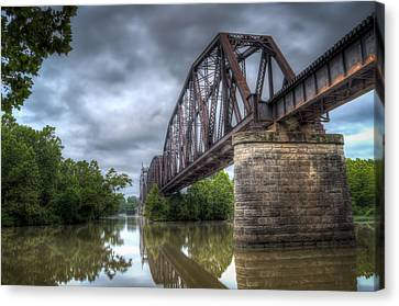 Jamesbarber Canvas Print - Railroad Bridge by James Barber