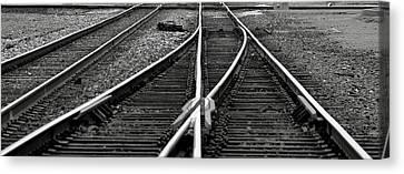 Railroad Highway Canvas Print by Jason Drake