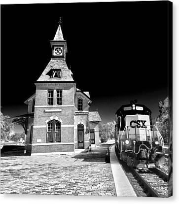 Csx Train Canvas Print - Railroad by Mitch Cat