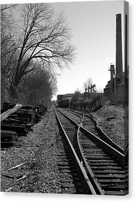 Canvas Print featuring the photograph Railroad Siding by Greg Simmons