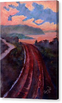 Canvas Print featuring the pastel Railroad by Susan Will