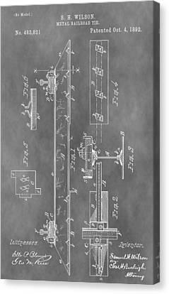 Railroad Tie Patent Canvas Print
