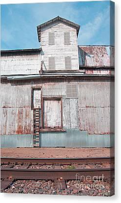 Railroad To The Past Canvas Print by Minnie Lippiatt