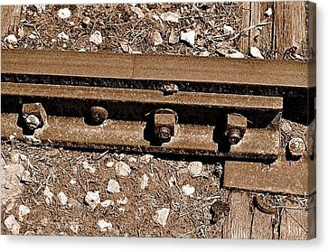 Railroad Track Canvas Print by Andres LaBrada
