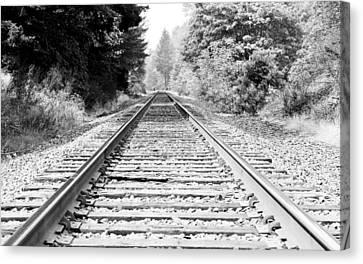 Railroad Tracks Canvas Print by Athena Mckinzie