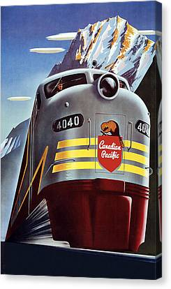 Railroad Travel Poster Canvas Print