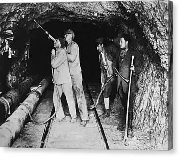 Railroad Tunnel In The Alps Canvas Print