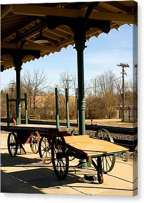 Railroad Wagons Canvas Print by Denise Beverly