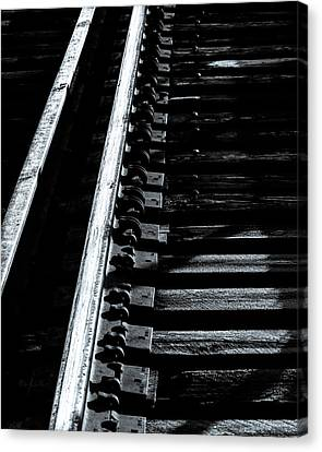 Rails And Ties Canvas Print by Bob Orsillo