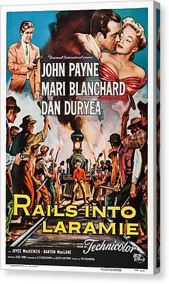 Rails Into Laramie, Us Poster Art, Dan Canvas Print by Everett