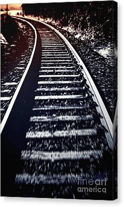 Canvas Print featuring the photograph Railtrack by Craig B