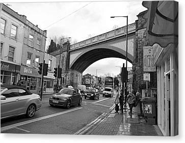 Railway Bridge Canvas Print by Bishopston Fine Art