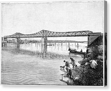Railway Bridge Over The Tanaro, 1893 Canvas Print