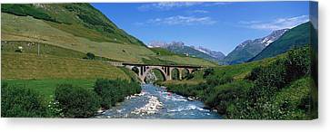Railway Bridge Switzerland Canvas Print by Panoramic Images