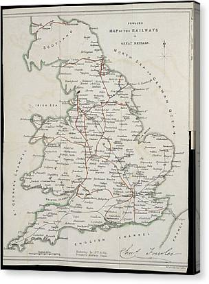 Railway Map Canvas Print by British Library