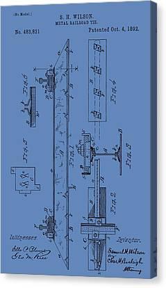 Railway Sleeper Patent Canvas Print