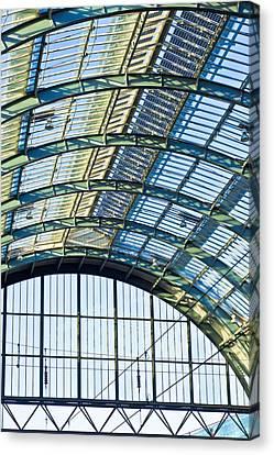 Terminal Canvas Print - Railway Station Roof by Tom Gowanlock