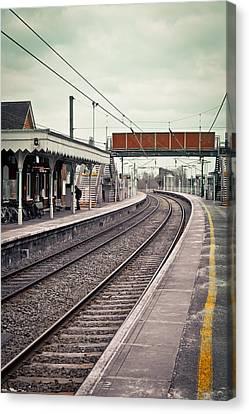 Railway Station Canvas Print by Tom Gowanlock