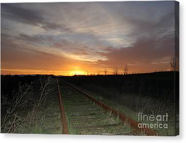 Railway To Wine Country Canvas Print by Jordan Rusin