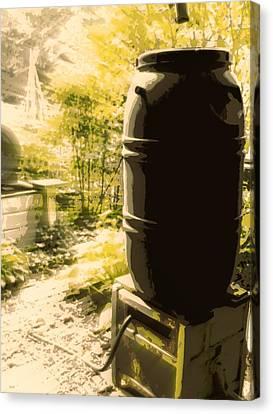 Rain Barrel Canvas Print - Rain Barrel by Tg Devore