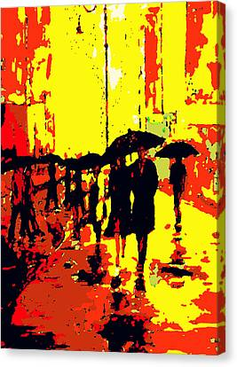 Rain Canvas Print by David Alvarez