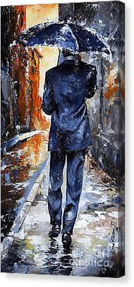 Rainy Day Canvas Print - Rain Day #20 by Emerico Imre Toth