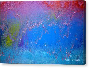 Rain Drops Abstract Canvas Print