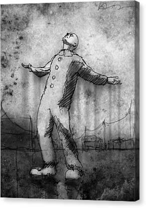 Rain Canvas Print by H James Hoff