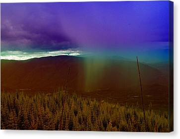 Rain North Of Bonners Ferry Canvas Print by Jeff Swan