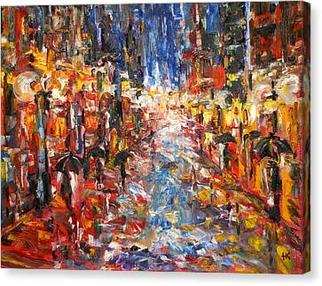 Rain On 5th Ave Canvas Print