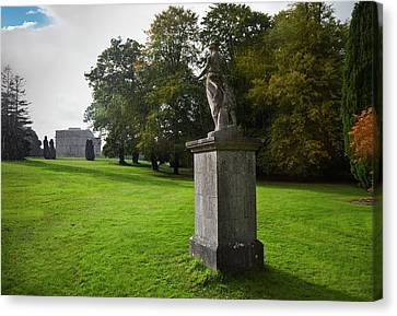 Rain On A Sculpture In The Gardens Canvas Print by Panoramic Images