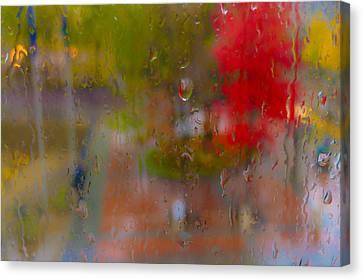 Rain On Glass Canvas Print by Susan Stone