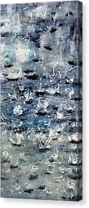 Rain On Gray's Harbor Canvas Print