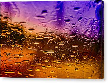 Rain On Windshield Canvas Print