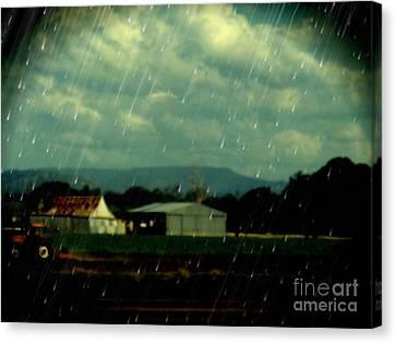 Rain Over Grantham Canvas Print