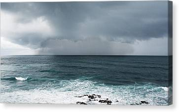 Rain Over The Ocean Canvas Print by Parker Cunningham