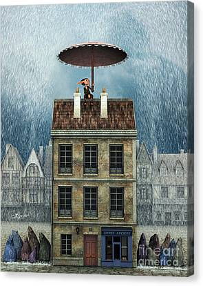 Rain Protection Canvas Print by Jutta Maria Pusl