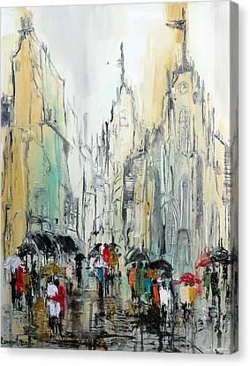 Rain Romance Canvas Print