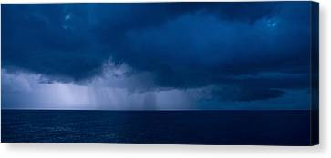 Rain Squalls At The Sea, Negril Canvas Print by Panoramic Images