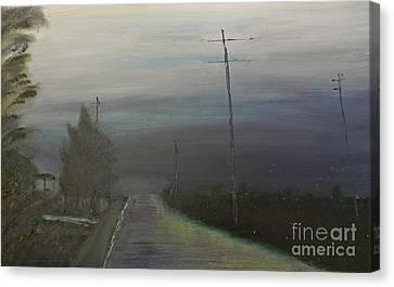 Rain Storm Canvas Print by Pamela  Meredith