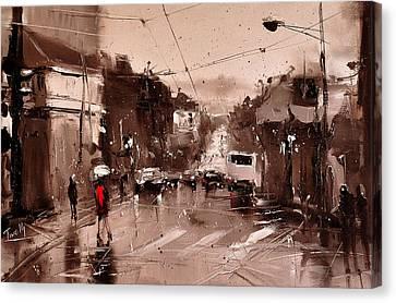 Rain Canvas Print by Timorinelt Tryptykieu