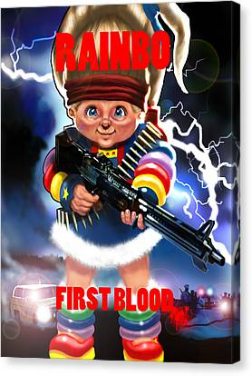 Rainbo First Blood Canvas Print by Tim Myers
