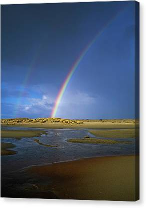 Rainbow Appears Over The Mouth Canvas Print by Robert L. Potts