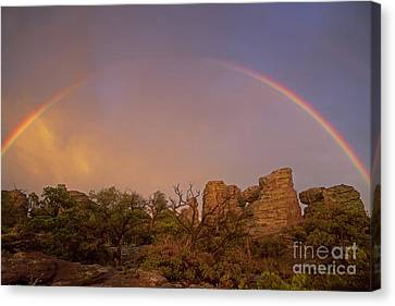 Rainbow At Chiricahua Canvas Print by Keith Kapple