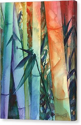 Rainbow Bamboo 2 Canvas Print by Marionette Taboniar
