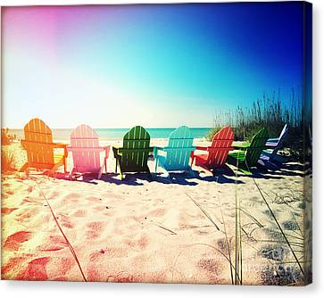Rainbow Beach Photography Light Leaks1 Canvas Print by Chris Andruskiewicz